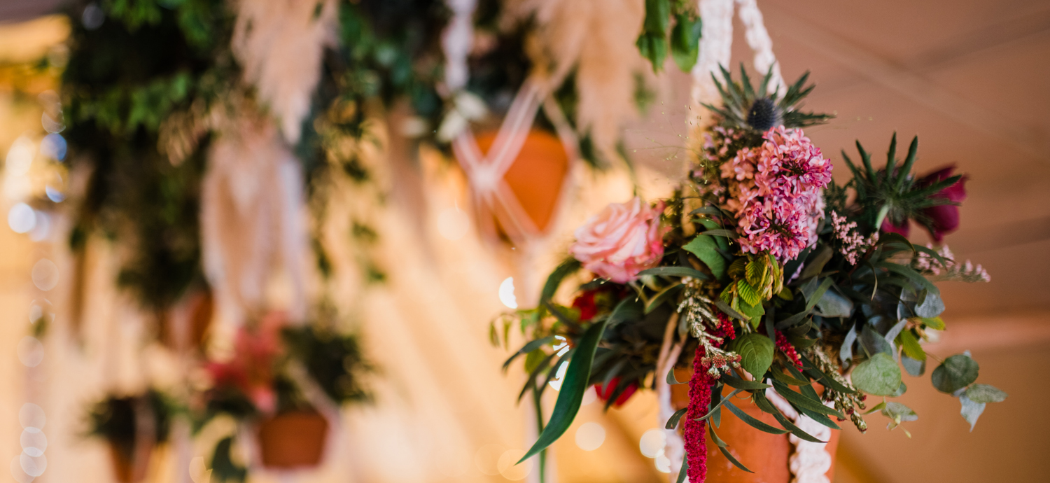 A tipi wedding flower arrangement (Scarborough, UK)